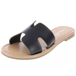 Montego Bay TANGO H-band faux leather slide sandal
